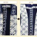 浴衣の衿の変色|修復事例